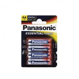 Blister de 4 pilas AA Panasonic alcalina