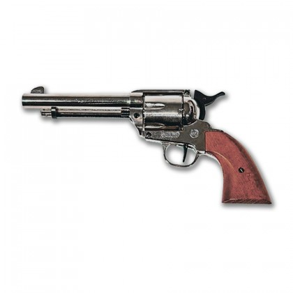 Revolver de Fogueo BRUNI western nikel